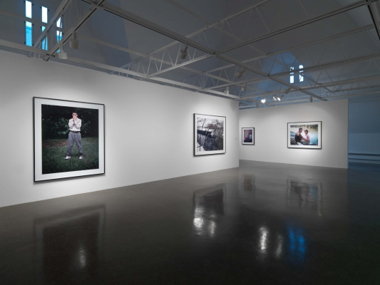 Color photographs on view in the gallery
