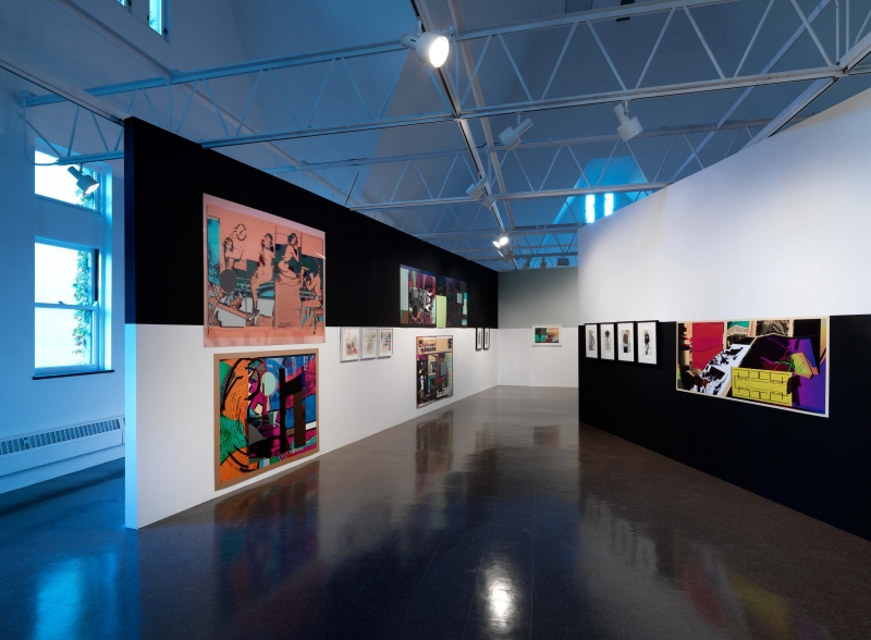 Color prints and mixed-media works on view in the gallery